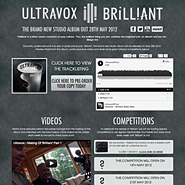 Ultravox album microsite launch