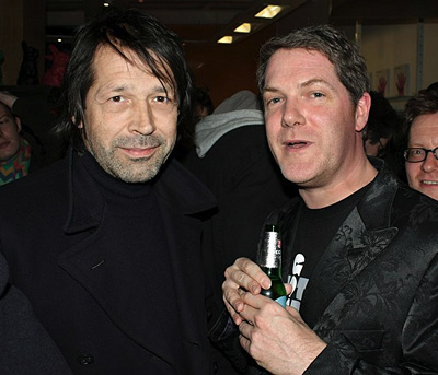Peter Saville and Rian Hughes