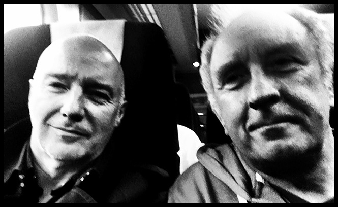 Midge and Chris off to meetings in London for album release