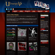 Ultravox website revamp